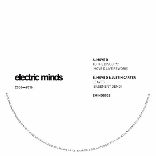 """EMINDS032.A Move D - """"to the disco '77"""" (live rework)"""
