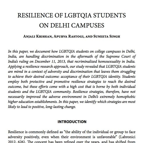 [Behind the Pages] Resilience of LGBTQIA Students on Delhi Campuses