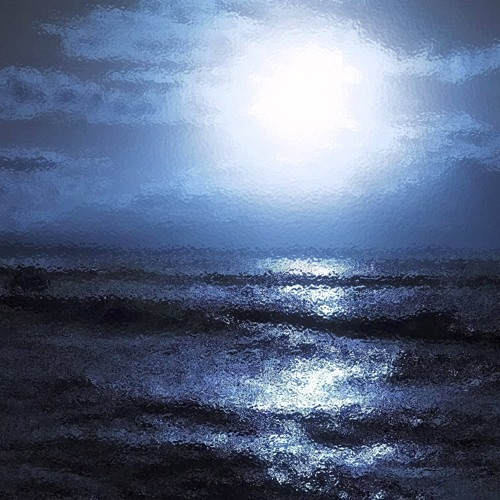 Over a windcloaked nightsoaked starpoked sea