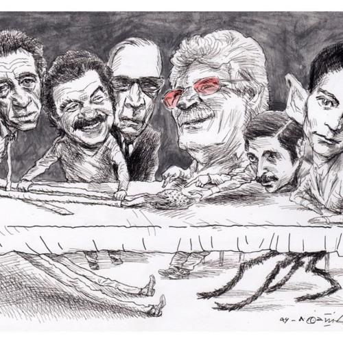 سه نویسنده، یک مجسمهساز و یک فیلسوف در مهمانی نسیم خاکسار