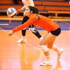 Corey Crisan with Syracuse Volleyball Libero Belle Sand