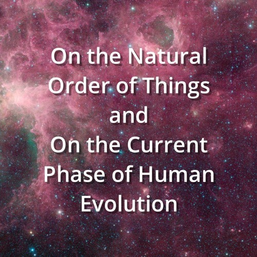On the Natural Order of Things and On the Current Phase of Human Evolution