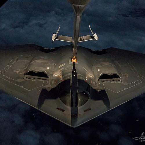 B-2 simulated air strike