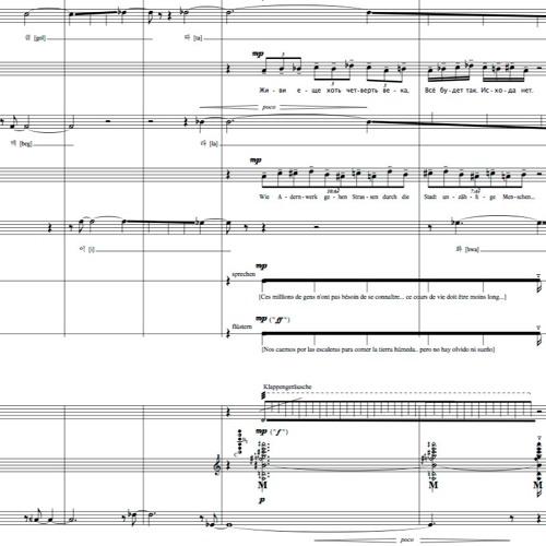 Calles y Sueños (for Vocal and Instrumental Ensemble)