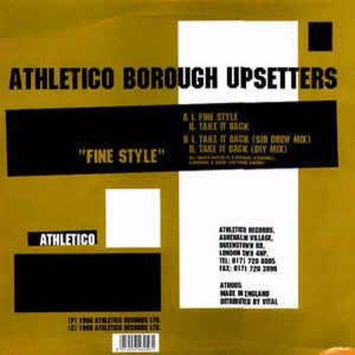 Athletico Borough Upsetters - Fine Style (Steppin' Tones Edit) [FREE DOWNLOAD]
