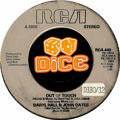 Hall & Oates - Out Of Touch (DiCE EDiT)// Free Download