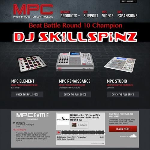 "Dj Skillspinz ""From A Dj's Perspective"" (MPC Battle Round 10)"