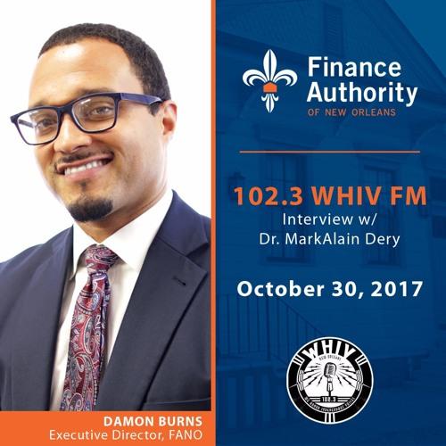Damon Burns Speaks With WHIV - FM