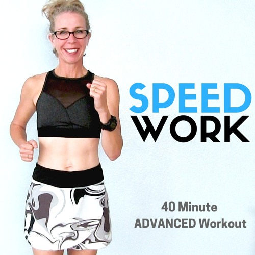 RUN FASTER | 40 Minute Indoor RUNNING SPEED Workout | Let's RUN Podcast