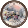 Thomas Kinkade Christmas Village Musical Wall Clock