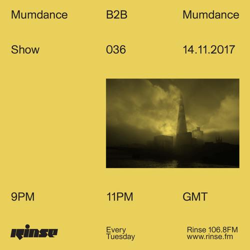 Mumdance b2b Mumdance - 14th November 2017