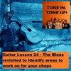Guitar Lesson 24: The Blues revisited to identify areas to work on for your chops