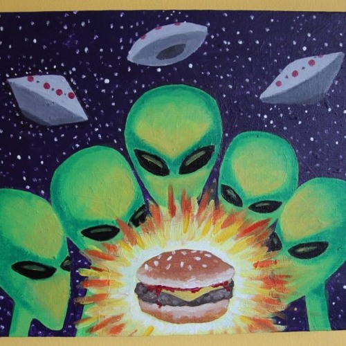 Alien Space Burger In Outer Space Part III