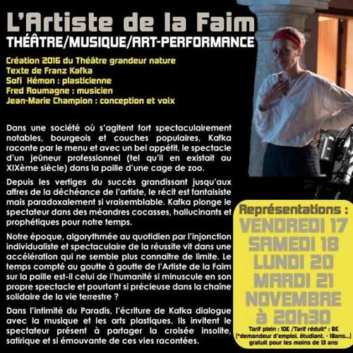 """Extrait de """"L'artiste de la faim""""(kafka)"""