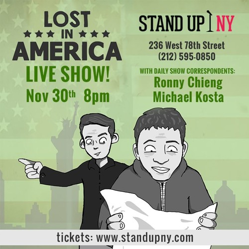 Live Podcast Announcement!  Nov. 30 - Stand Up NY