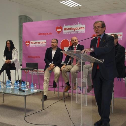 Campaña contra la violencia machista- Fco Javier Lara decano Icamalaga