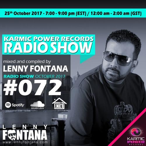 #72 Karmic Power Records Radio Show on Housefm.net mixed by Lenny Fontana 25. October 2017