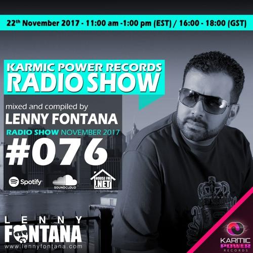 #76 Karmic Power Records Radio Show On HouseFM.NET mixed by Lenny Fontana 22. November 2017