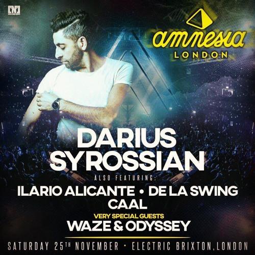 DARIUS SYROSSIAN - AMNESIA IBIZA TOUR - LONDON BRIXTON - LIVE RECORDING