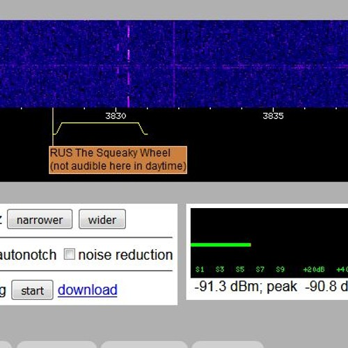 Squeaky Wheel Voice Message at 17:10 Websdr Recording Start 2017 - 11 - 27T18 59 38Z 4625.0kHz