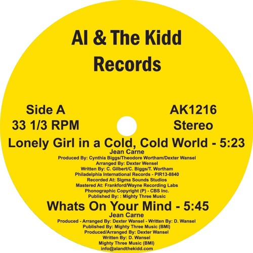 [AK1216] (Side A) 2. Jean Carn - What's On Your Mind [Excerpt]