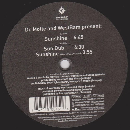 Dr Motte And Westbam Sunshine Djoko Break Mix By Djoko On Soundcloud Hear The World S Sounds