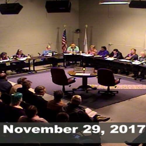 Greenfield Town Council Special Meeting November 29, 2017
