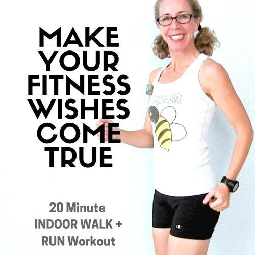 20 Minute RUNNING + WALKING Workout | How To Make Your Fitness WISHES Come True