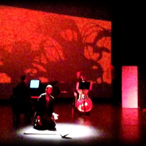 To See That Red Thing Flow - a mono-opera for baritone, double bass, and piano