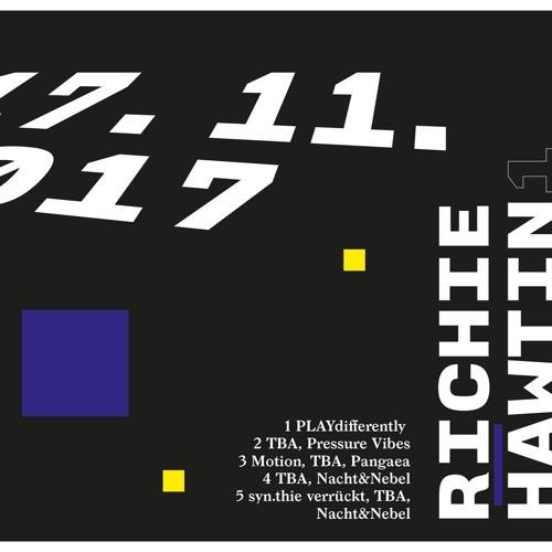 Opening @ TBA Klubnacht w/ Richie Hawtin 17.11.2017