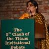 Dakshita Das alumna Lady Shri Ram College at the 5th Clash of the Titans Invitational Debate.WAV
