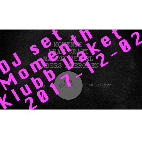 DJ set 2017-12-02 at Klubb Vaket  Stockholm Vinyl only