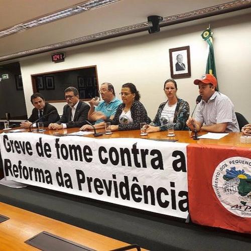 Agricultores do MPA entram no 3º dia de greve de fome contra reforma da Previdência