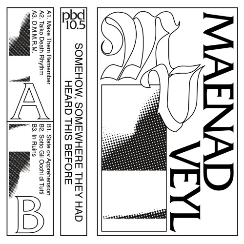 PBD10.5 | Maenad Veyl - Somehow, Somewhere They Had Heard This Before (Out Now)