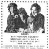 The Moving Sidewalks July 10, 1968 - Sam Houston Coliseum - Houston TX