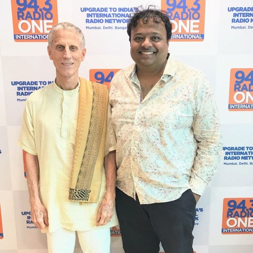 "Hrishi K with John Grieser - Director of ""Hare Krishna"" ( movie on ISKON movement )"