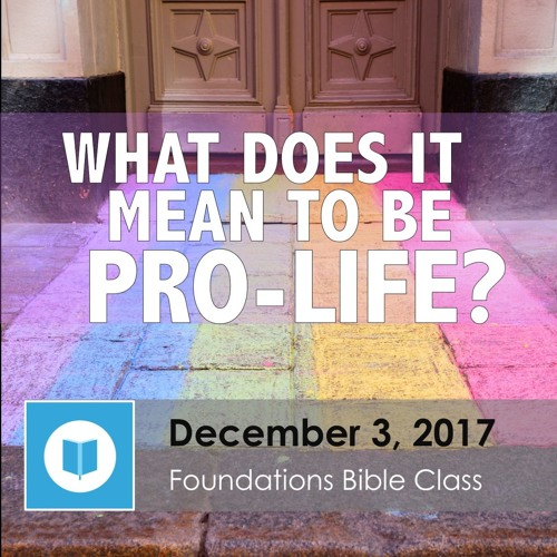 What Does it Mean to be Pro-Life? part 1