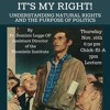 """Fr. Dominic Legge, OP: """"It's My Right!: Understanding Natural Rights and the Purpose of Politics"""""""