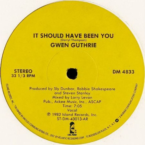 Gwen Guthrie - It Should Have Been You (KLM Edit)