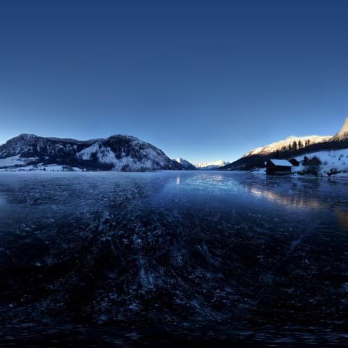 Frozen Lake Grundlsee