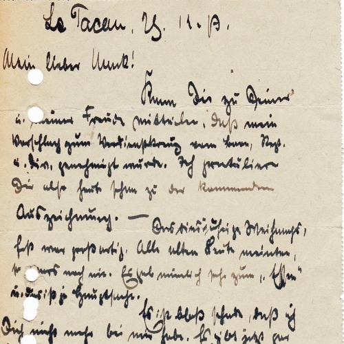 Opas Krieg - Feldpostbrief vom 28.12.1917