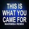 This is what you came For (Marimba Remix of Calvin Harris feat. Rihanna)