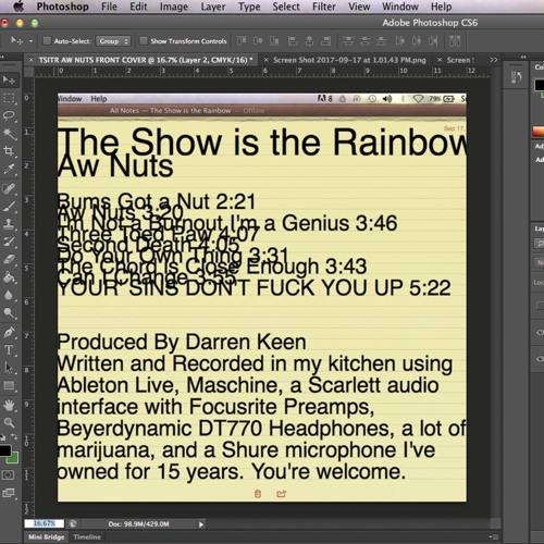 The Show is the rainbow - AW NUTS (secret demo master)