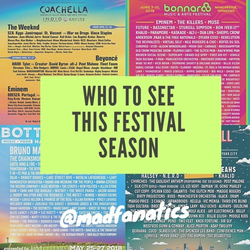Ep. 17 Who To See This Festival Season