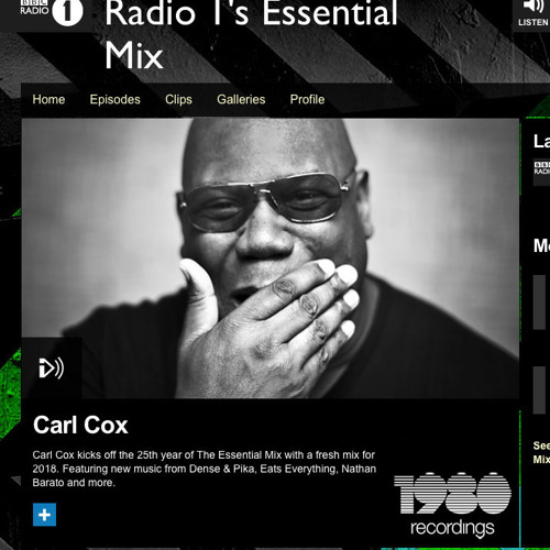 Carl Cox plays TomCole - What You Want on his 45th Radio 1 Essential Mix