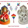 Hand Crafted Marble Dust Goddess Maa Saraswati Statue