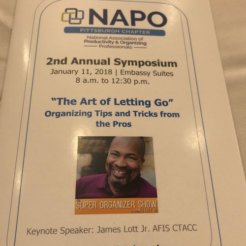 """MY NAPO Pittsburgh Keynote Address """"Letting Go and Letting In"""" 1-11-18"""