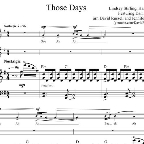 Those Days Piano Accompaniment Sample