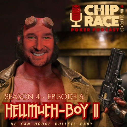 The Chip Race - Season 4 Episode 6 - Phil Hellmuth, Zachary Elwood, Fintan Gavin and Carlos Welsh.
