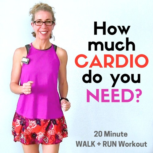How Much CARDIO Do You Need?  20 Minute WALK + RUN Workout (1:30/:30 Intervals)